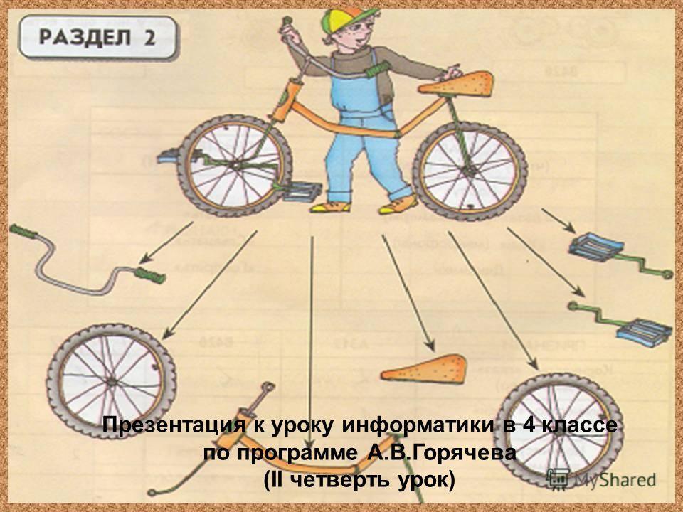 Презентация к уроку информатики в 4 классе по программе А.В.Горячева (II четверть урок)