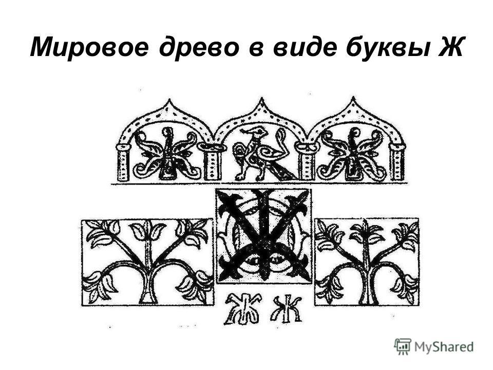 Мировое древо в виде буквы Ж