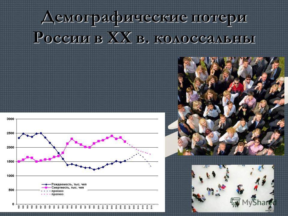 Демографические потери России в ХХ в. колоссальны