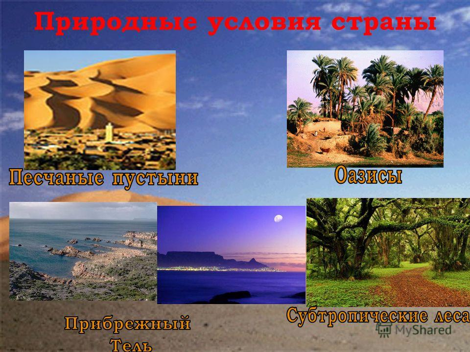 Природные условия страны
