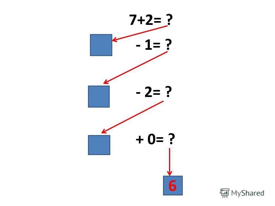 7+2= ? - 1= ? - 2= ? + 0= ? 6