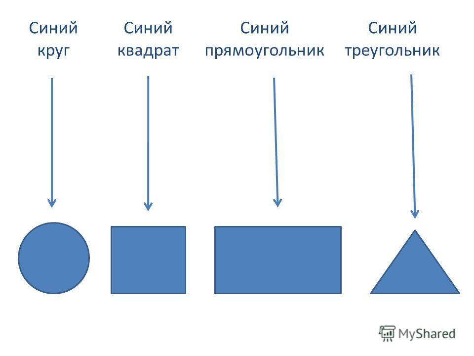 Синий квадрат Синий круг Синий прямоугольник Синий треугольник
