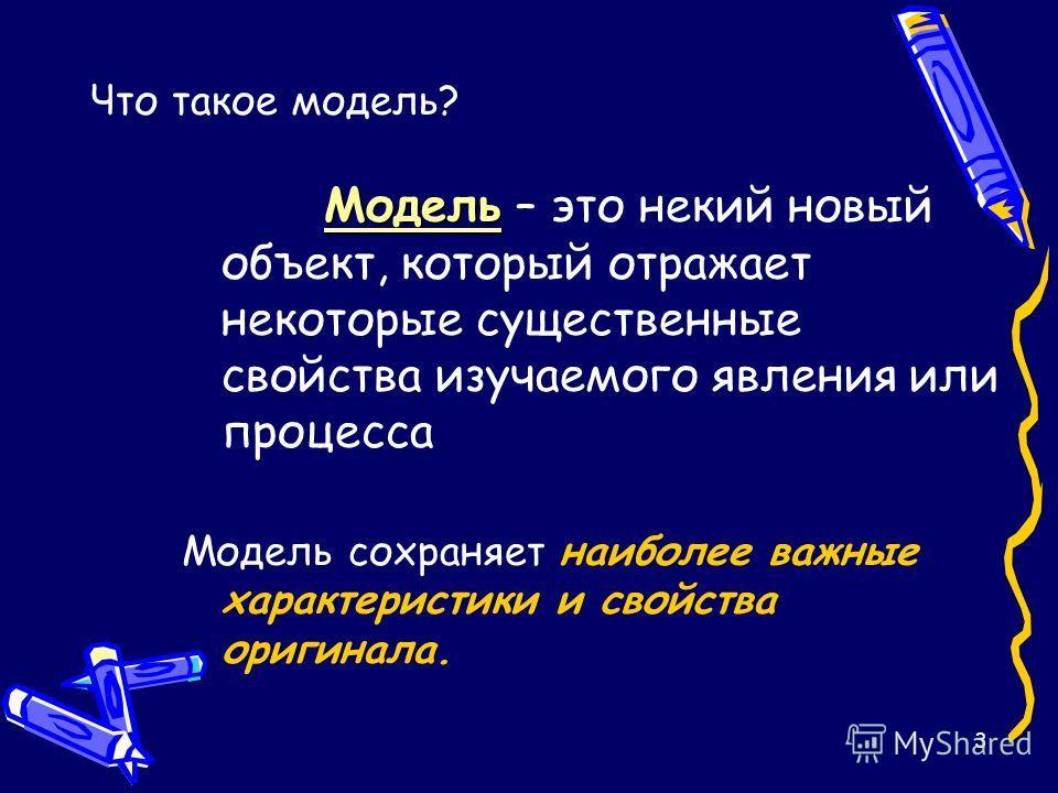 2 Что такое моделирование? Моделирование – это метод познания, состоящий в создании и исследовании моделей.