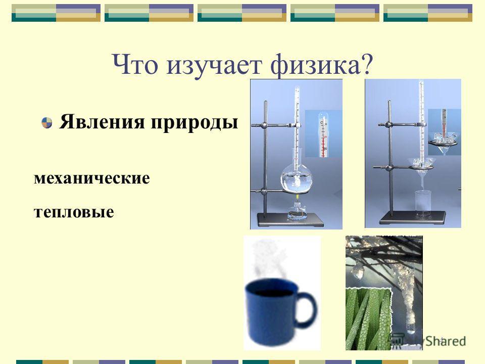 4 Что изучает физика? Явления природы механические тепловые