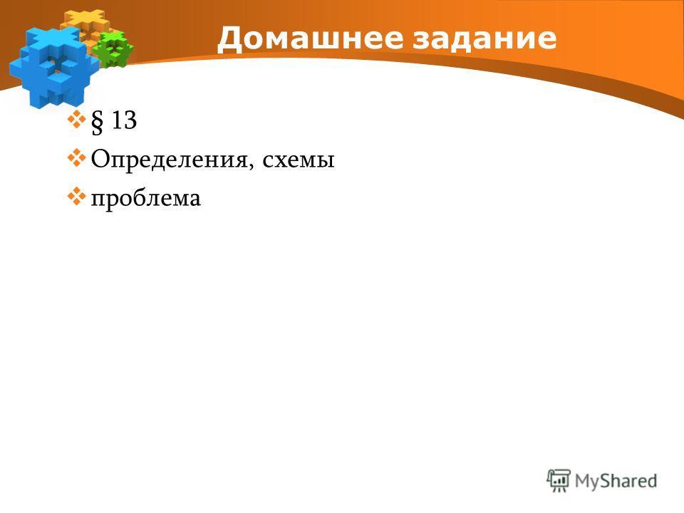 Домашнее задание § 13 Определения, схемы проблема