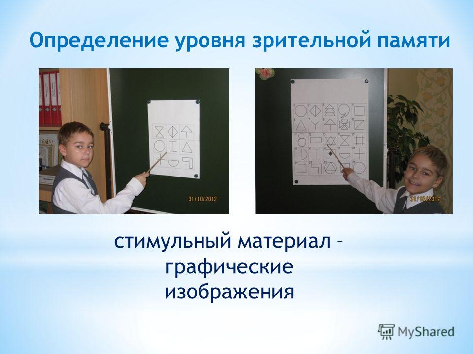 стимульный материал – графические изображения