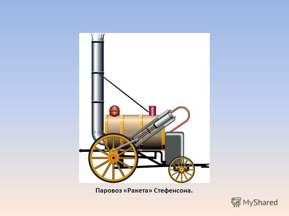 Паровоз «Ракета» Стефенсона.
