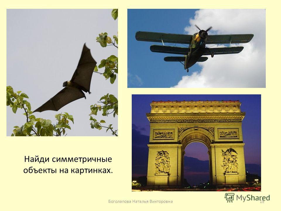 Найди симметричные объекты на картинках. 19Боголапова Наталья Викторовна