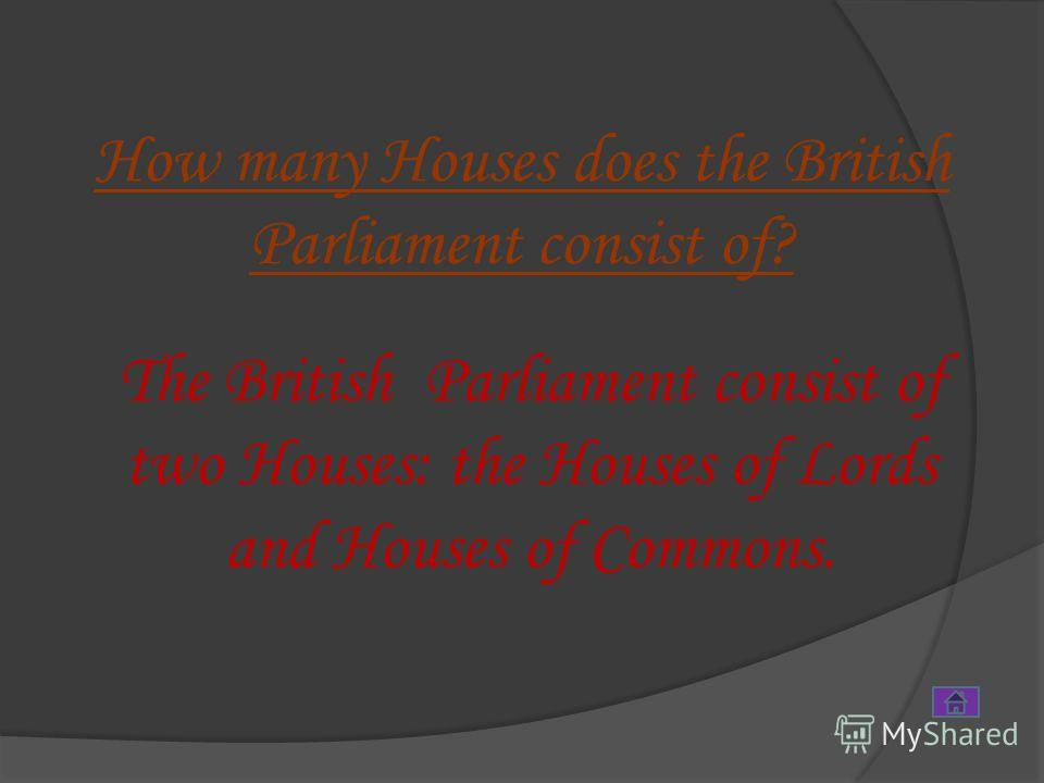 Parliament –Parliament – парламент House of Lords House of Lords – палата Лордов Prime Minister – Prime Minister – премьер-министр House of Commons House of Commons – палата общин