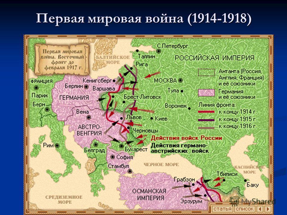 Первая мировая война (1914-1918)