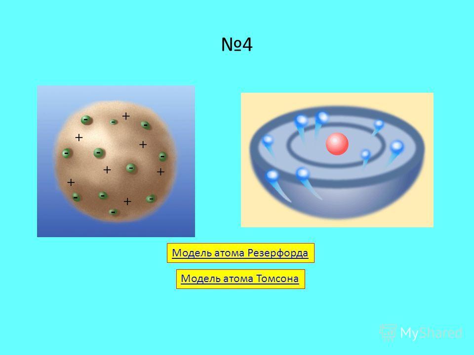4 Модель атома Резерфорда Модель атома Томсона