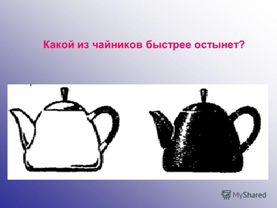 Какой из чайников быстрее остынет?