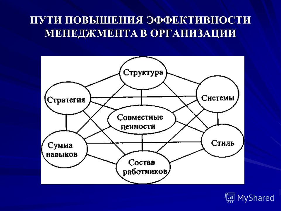 ПУТИ ПОВЫШЕНИЯ ЭФФЕКТИВНОСТИ МЕНЕДЖМЕНТА В ОРГАНИЗАЦИИ