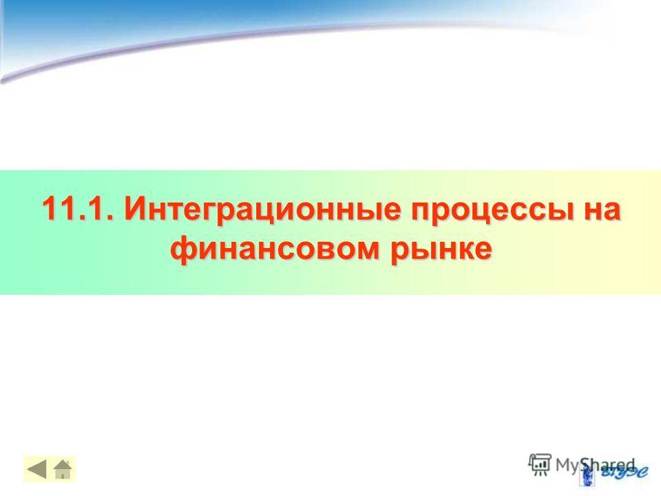 11.1. Интеграционные процессы на финансовом рынке 44