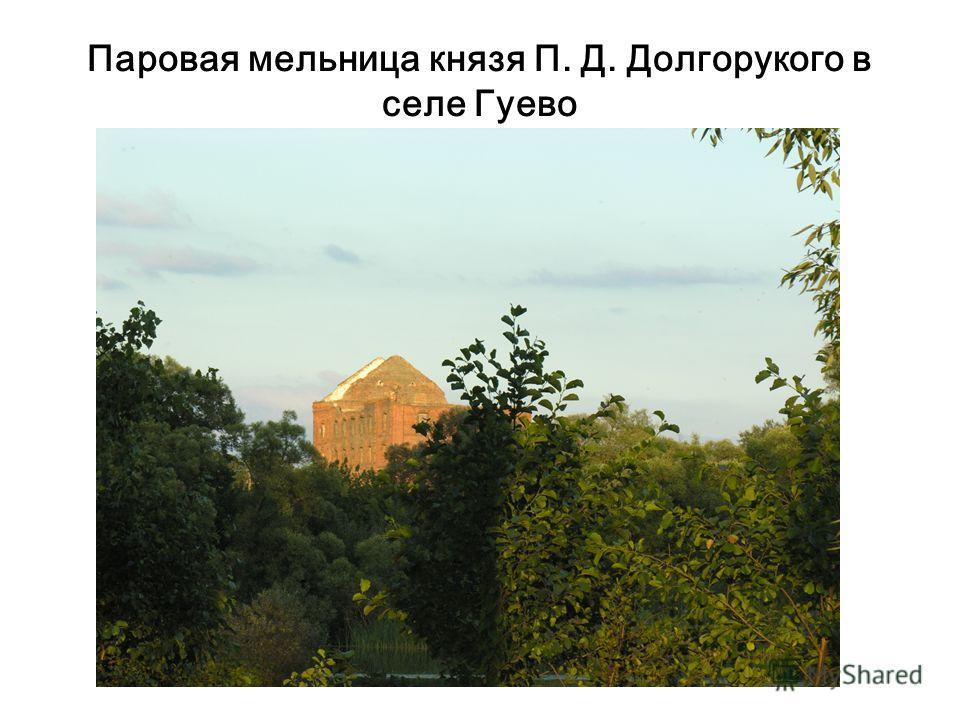 Паровая мельница князя П. Д. Долгорукого в селе Гуево