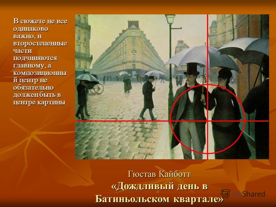 Гюстав Кайботт «Дождливый день в Батиньольском квартале»