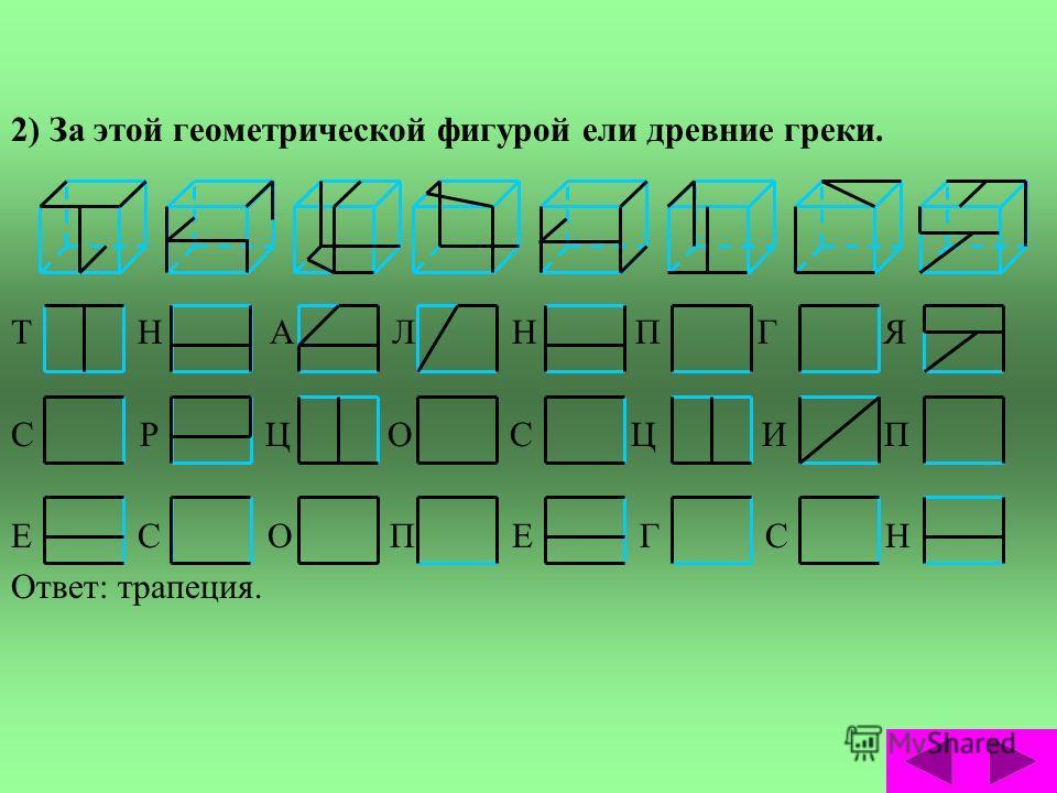 Задачи третьего уровня сложности. В третьем уровне сложности в каждом кубе зашифровано три буквы. С какой бы стороны вы не смотрели, всё равно будет видна буква. После разгадывания, из множества полученных букв, нужно составить слово. В качестве подс
