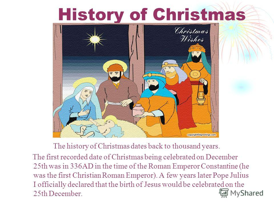 3 history - When Was Christmas