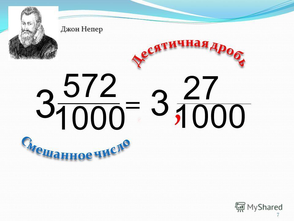 7 1000 27 3, 1000 572 3 = Джон Непер