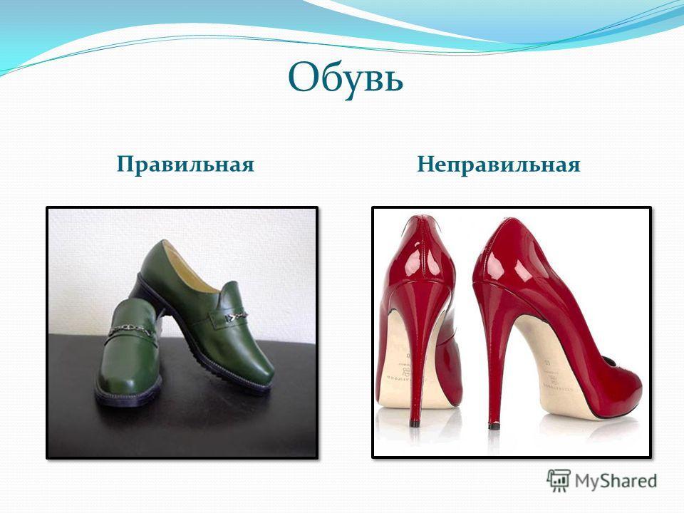 Обувь Правильная Неправильная