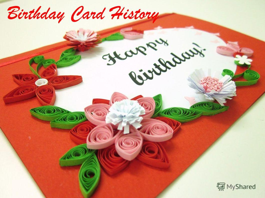 Birthday Card History