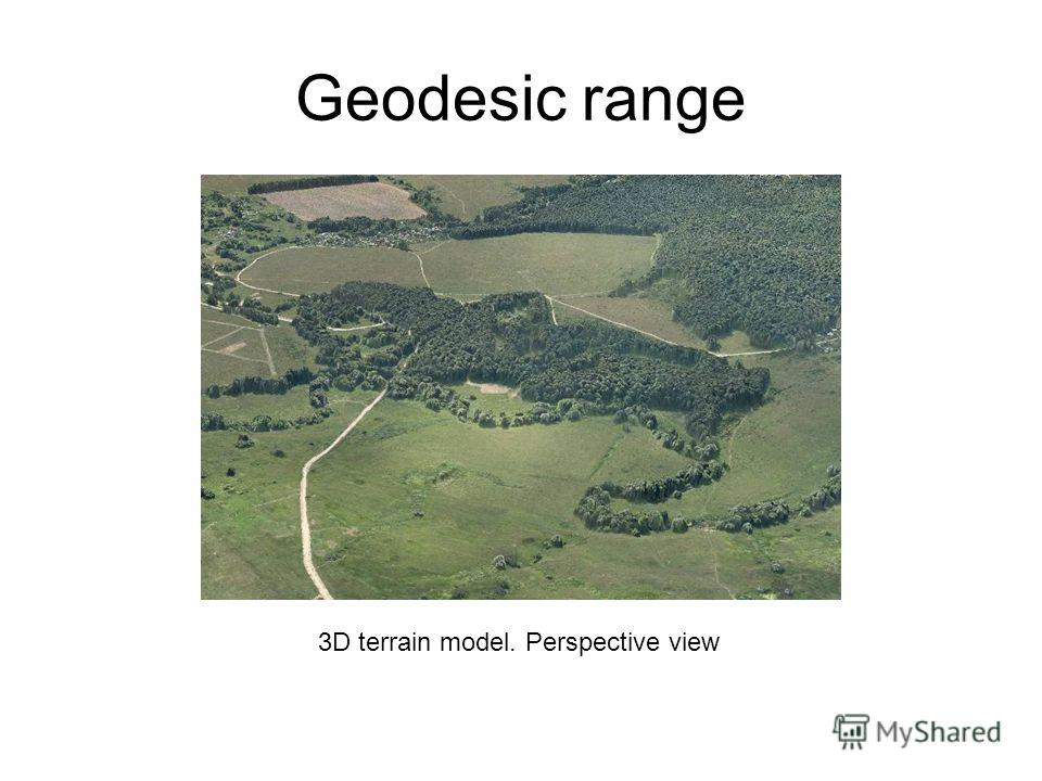 Geodesic range 3D terrain model. Perspective view