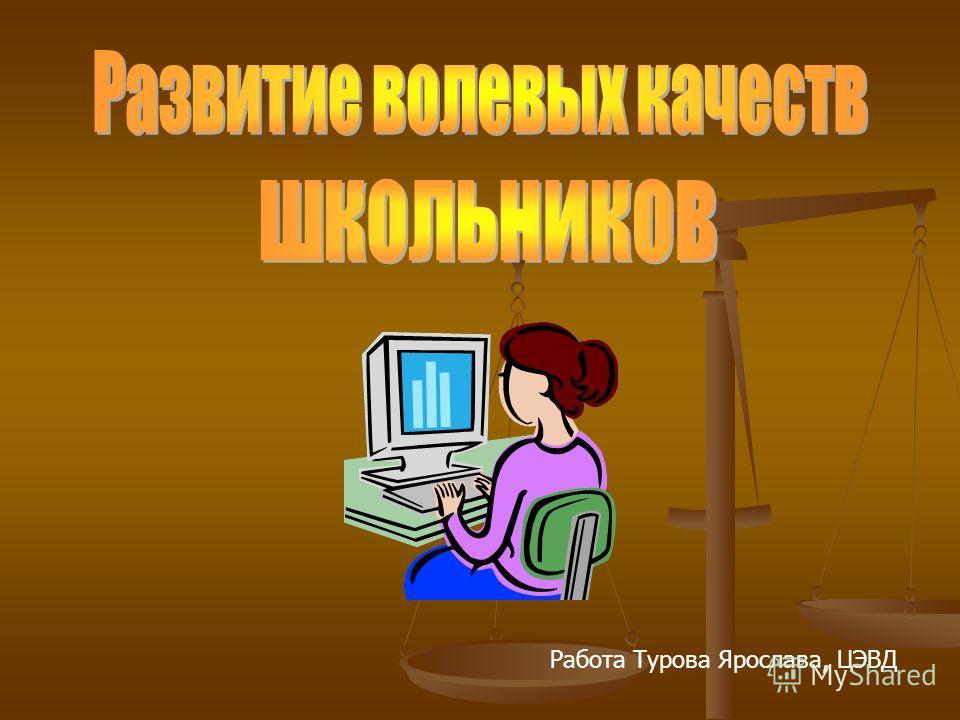 Работа Турова Ярослава, ЦЭВД