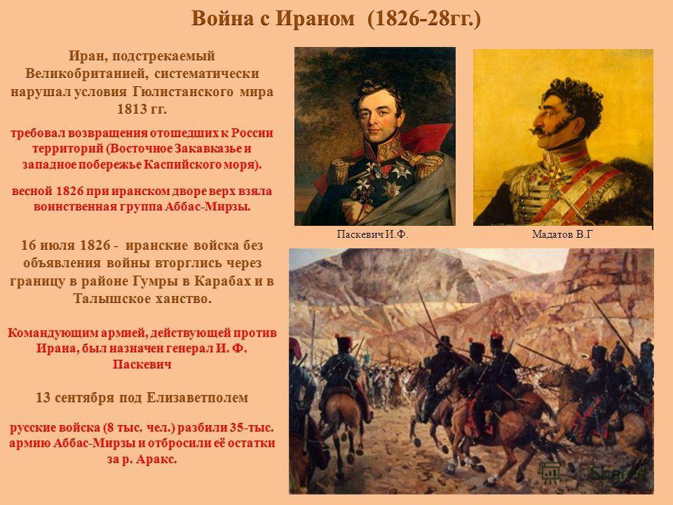 Паскевич И.Ф.Мадатов В.Г