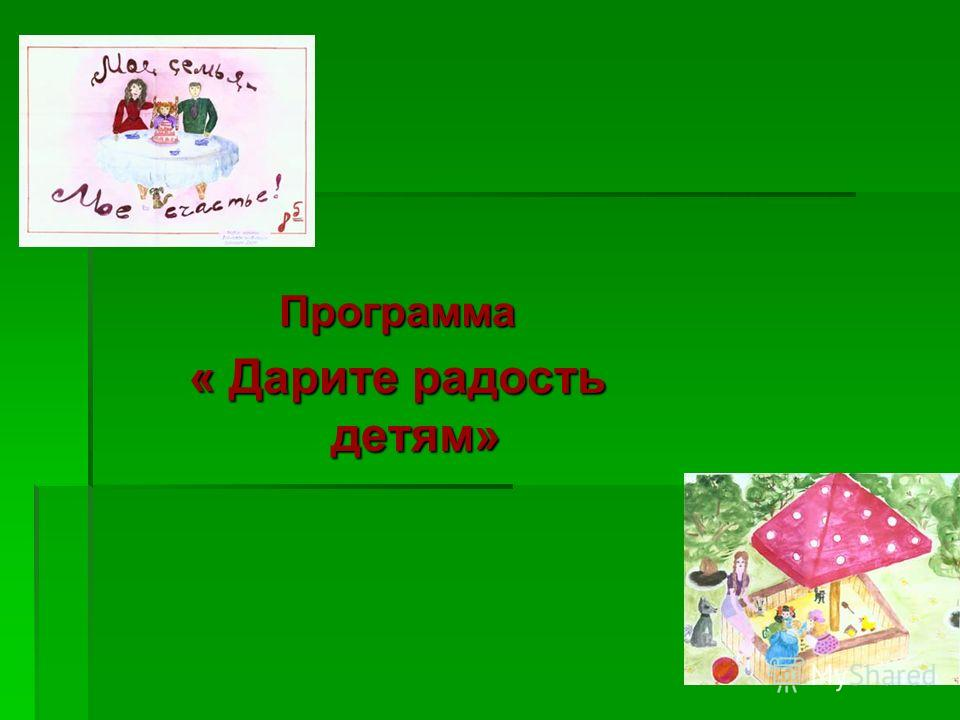 Программа « Дарите радость детям»