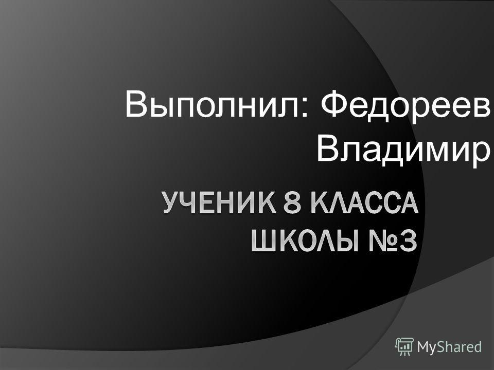 Выполнил: Федореев Владимир
