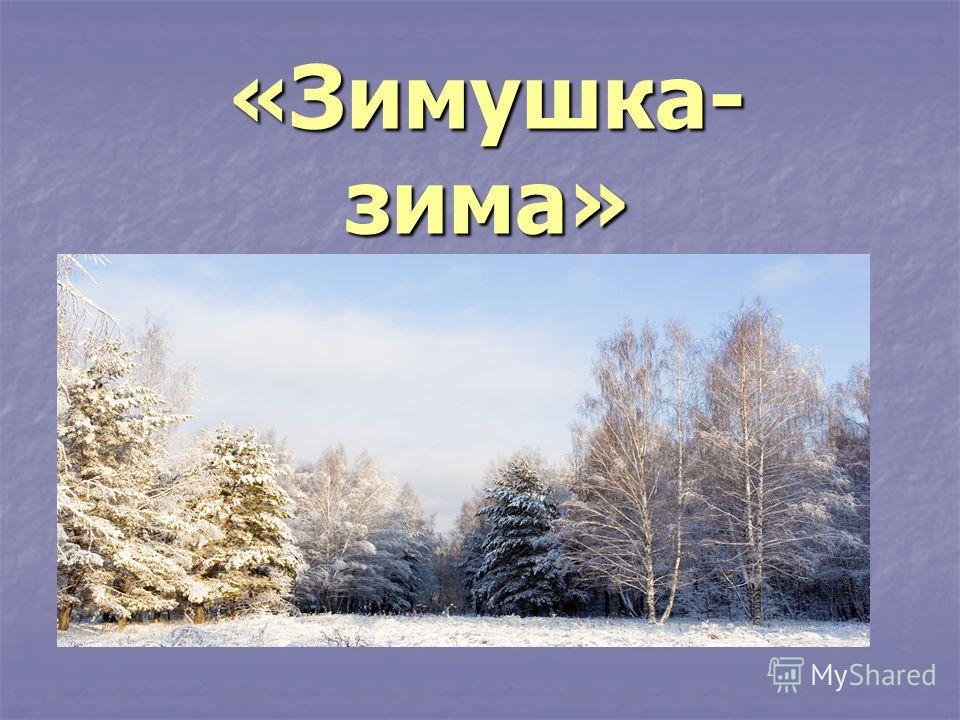 «Зимушка- зима»