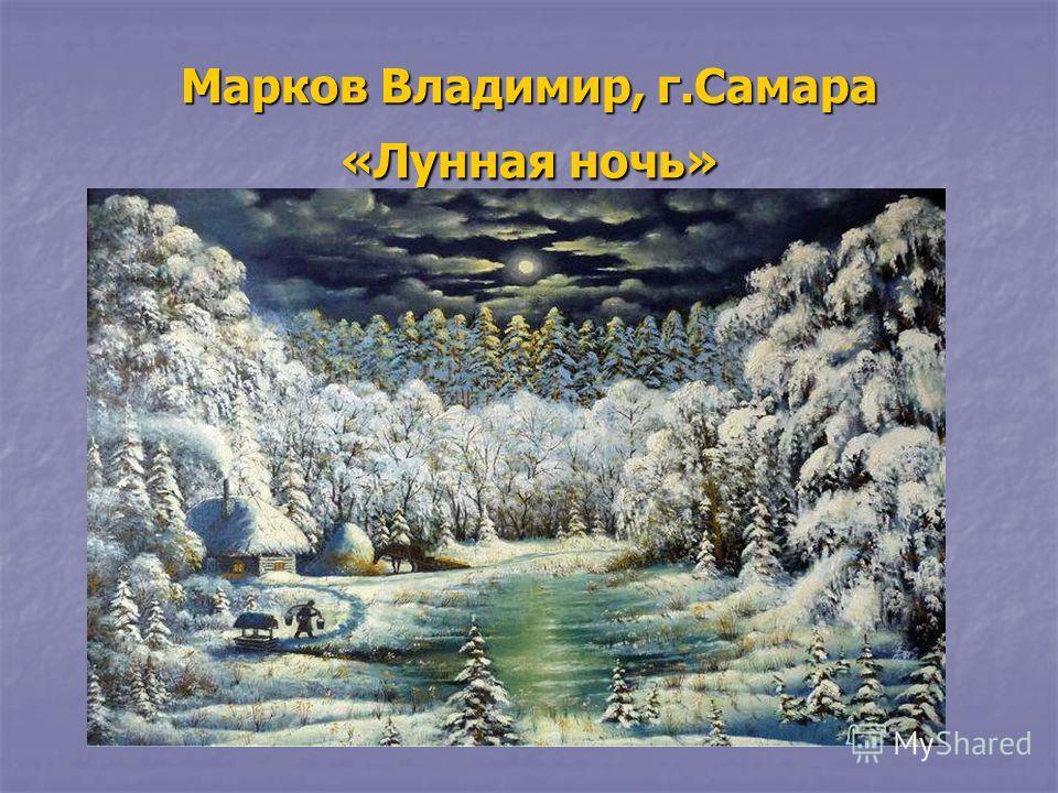 Марков Владимир, г.Самара «Лунная ночь»