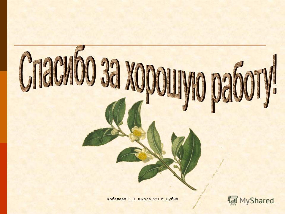 Кобелева О.Л. школа 1 г. Дубна