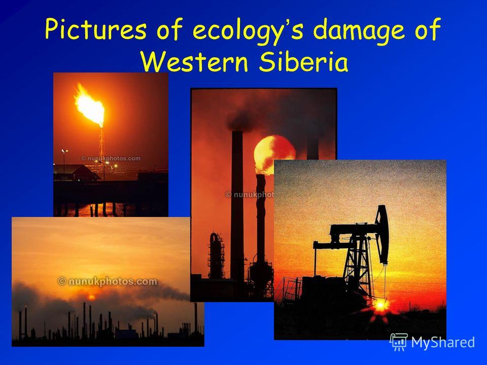 Pictures of ecology s damage of Western Sib e ria