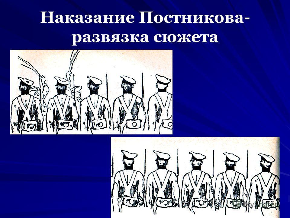 Наказание Постникова- развязка сюжета