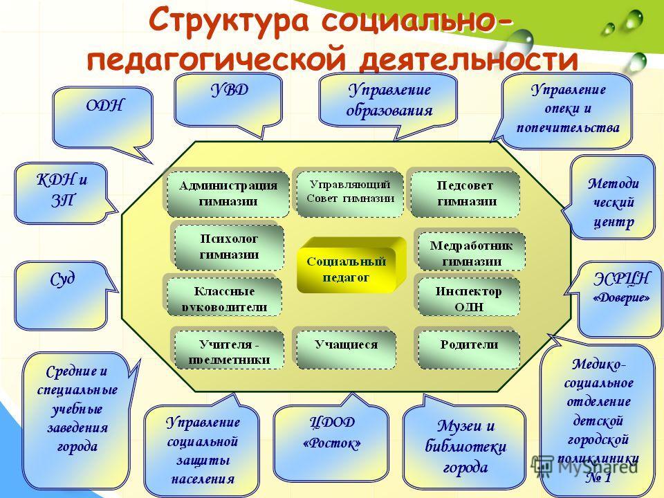 Структура социально- педагогической деятельности