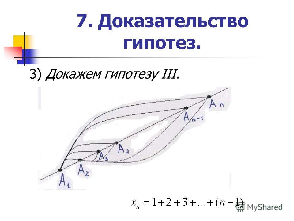 7. Доказательство гипотез. 3) Докажем гипотезу III.