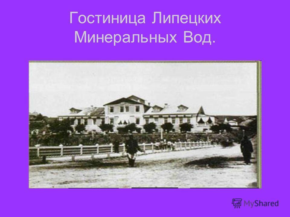 Гостиница Липецких Минеральных Вод.