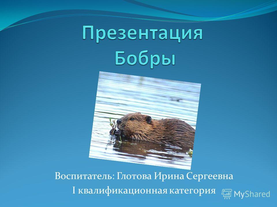 Воспитатель: Глотова Ирина Сергеевна I квалификационная категория