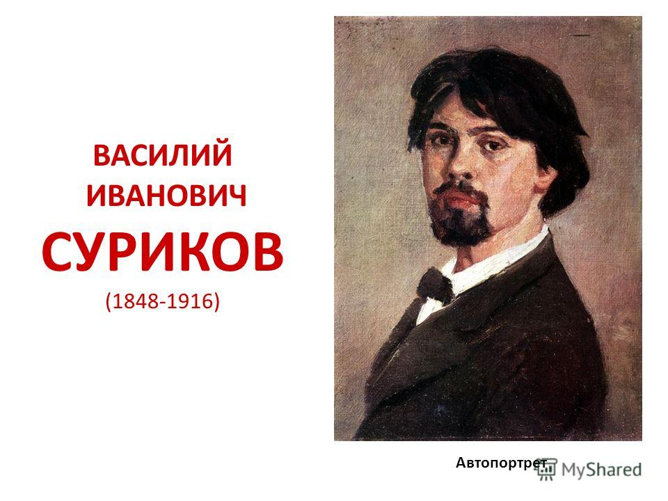 ВАСИЛИЙ ИВАНОВИЧ СУРИКОВ (1848-1916) Автопортрет