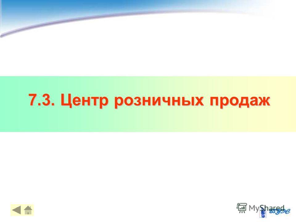 7.3. Центр розничных продаж 14