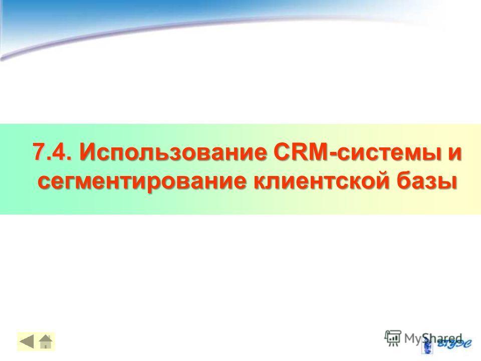 7.4. Использование CRM-системы и сегментирование клиентской базы 20