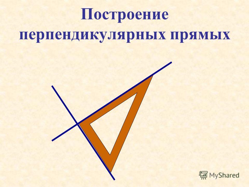 Две прямые, образующие при пересечении прямые углы, называют перпендикулярными А В М N О АВMN