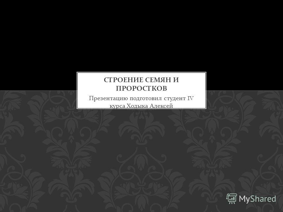 Презентацию подготовил студент IV курса Ходыка Алексей