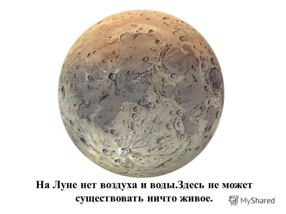 Поверхность Луны покрыта кратерами. Кратеры возникали тогда, когда глыбы горной породы или железа, кото- рые называют метеоритами, падали на поверхность Луны.