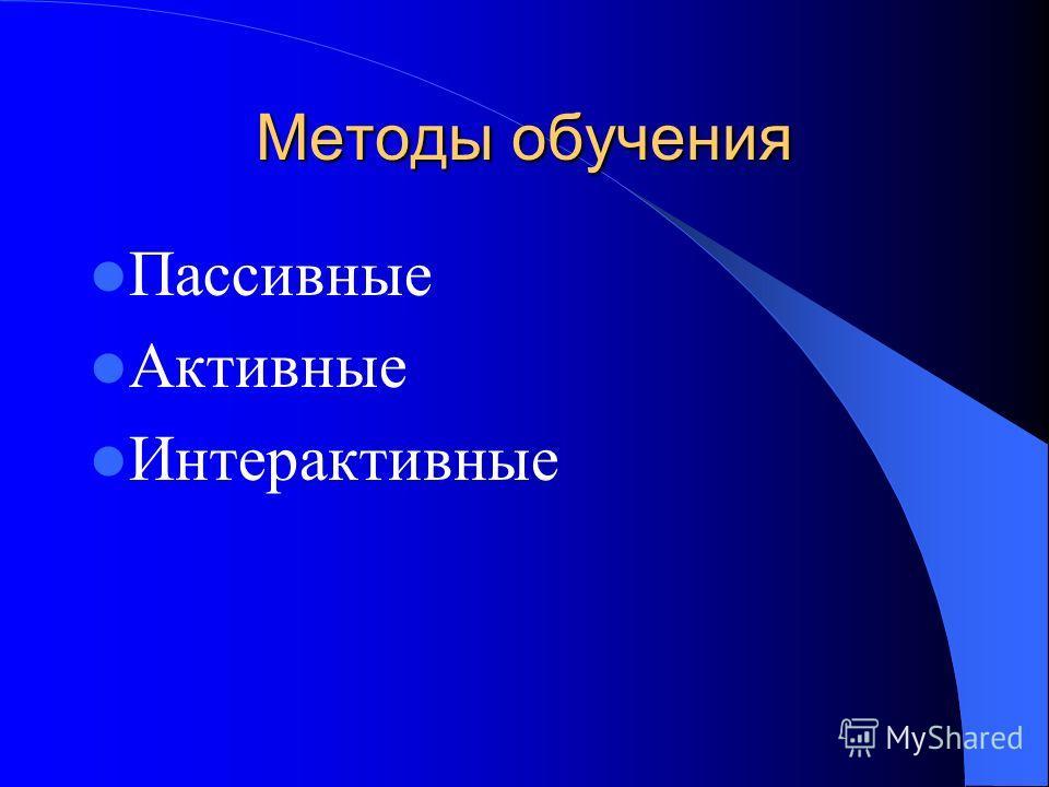 Методы работы учителя