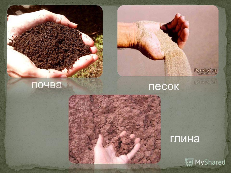 почва песок глина
