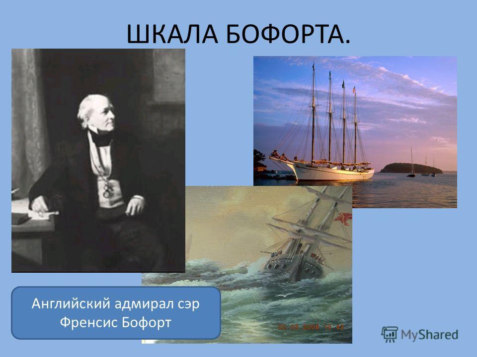 ШКАЛА БОФОРТА. Английский адмирал сэр Френсис Бофорт