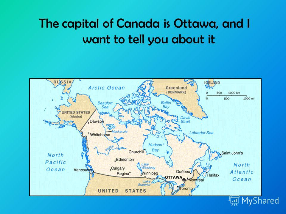 The capital of Canada is Ottawa, and I want to tell you about it