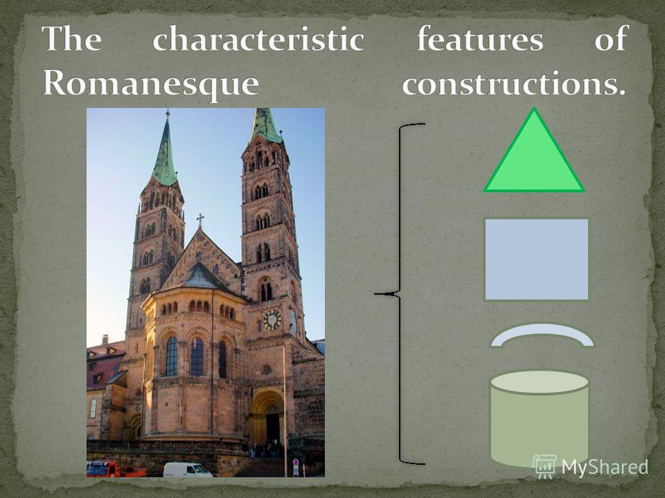 the main characteristics of romanesque art Four characteristics of romanesque art the romanesque art period started from approximately 1000 ad to the rise of the gothic style in the 13th century, or later, depending on region.